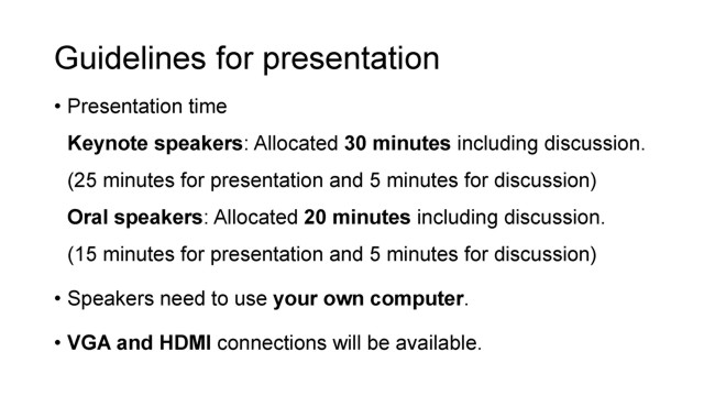 Guidelines for presentation, p1